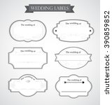 vintage wedding labels  in... | Shutterstock .eps vector #390859852
