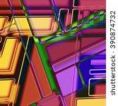 art abstract geometric... | Shutterstock . vector #390874732