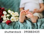 body part  children fingers... | Shutterstock . vector #390883435