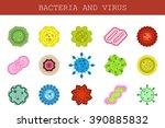 vector isolated set of flat...   Shutterstock .eps vector #390885832