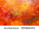 abstract oil paint texture on... | Shutterstock . vector #390886492