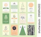 organic goods card and flyer ... | Shutterstock .eps vector #390896302