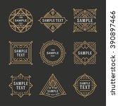 set of line art decorative...   Shutterstock .eps vector #390897466