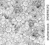 coloring book page design with... | Shutterstock .eps vector #390898192
