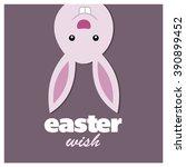 happy easter bunny card | Shutterstock .eps vector #390899452