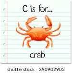 Flashcard Letter C Is For Crab...