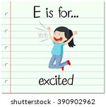 flashcard letter e is for...