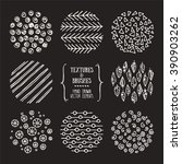 hand drawn textures and brushes.... | Shutterstock .eps vector #390903262