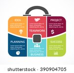 vector briefcase infographic.... | Shutterstock .eps vector #390904705