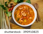 the best thai food hot and... | Shutterstock . vector #390910825