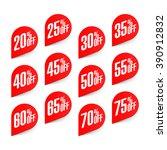 discount labels set vector... | Shutterstock .eps vector #390912832