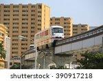 okinawa japan  feb 17  monorail ... | Shutterstock . vector #390917218
