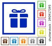 set of color square framed gift ...