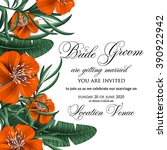 wedding invitation with...   Shutterstock .eps vector #390922942