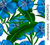 tropical flower  blossom... | Shutterstock .eps vector #390922972