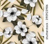 sakura blossom seamless pattern ...   Shutterstock .eps vector #390923986
