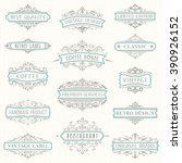vector set of ornate... | Shutterstock .eps vector #390926152