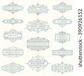 vector set of ornate... | Shutterstock .eps vector #390926152