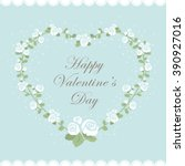 happy valentines day card.... | Shutterstock .eps vector #390927016