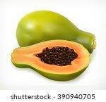 papaya fruit. vector icon | Shutterstock .eps vector #390940705