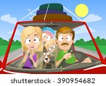vector cartoon illustration of... | Shutterstock .eps vector #390954682