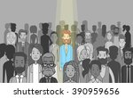 businessman leader stand out... | Shutterstock .eps vector #390959656
