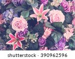 beautiful bouquet flower for... | Shutterstock . vector #390962596