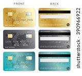 vector set credit card design...