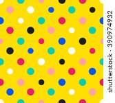 Rainbow Colorful Polka Dot...