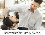 attractive dark haired man with ...   Shutterstock . vector #390976765