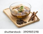 eggs stewed with streaky pork | Shutterstock . vector #390985198
