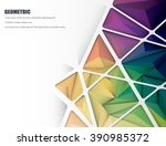 vector illustration blank white ... | Shutterstock .eps vector #390985372