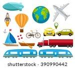 transport vector set. icons | Shutterstock .eps vector #390990442