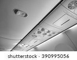 italy  airplane cabin with the... | Shutterstock . vector #390995056