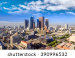downtown la los angeles skyline ... | Shutterstock . vector #390996532