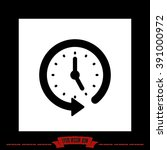 clock arrow.  | Shutterstock .eps vector #391000972