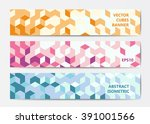 abstract polygonal banner...
