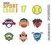 sport logo design set | Shutterstock .eps vector #391005052