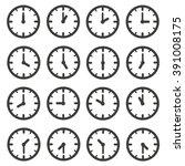 set of clocks for every hour | Shutterstock .eps vector #391008175