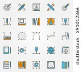 colorful graphic design icons   ...
