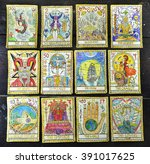 Background With The Tarot Card...
