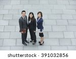 elevated view of three chinese... | Shutterstock . vector #391032856