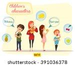 children's characters. fun kids.... | Shutterstock .eps vector #391036378