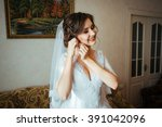 the first meeting of the bride... | Shutterstock . vector #391042096
