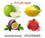 vector realistic 3d fruit  set... | Shutterstock .eps vector #391050685