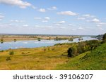 beautiful river and yellow... | Shutterstock . vector #39106207