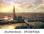 city of london aerial view ...   Shutterstock . vector #391069366