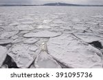 Ice Sheet In The Sea In...