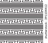 zigzag pattern old style  black ... | Shutterstock .eps vector #391104412