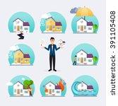 house insurance business... | Shutterstock .eps vector #391105408